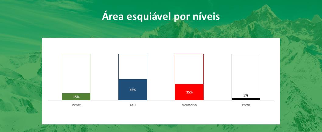 area esquiável por níveis Las Leñas