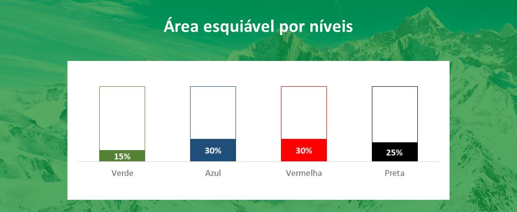 area esquiável por níveis Portillo