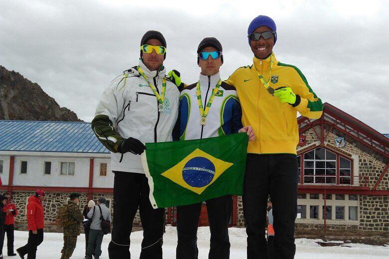 Fabrizio Bourguignon e Mirlene Picin são campeões brasileiros de Biathlon de Inverno na altitude de Portillo